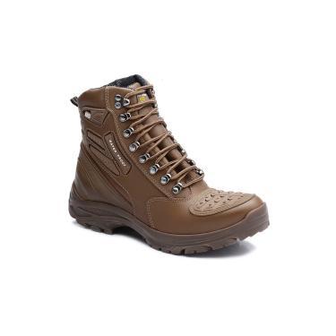 Bota Tatico Militar 100% Impermeavel Gogowear 100% Couro Ref Roadstar Cor Amendoa  masculino