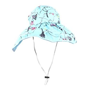 SOIMISS Chapéu vazio chapéu de proteção solar dobrável Chapéu de aba larga Criativo protetor solar chapéu protetor de proteção para esportes ao ar livre (azul)