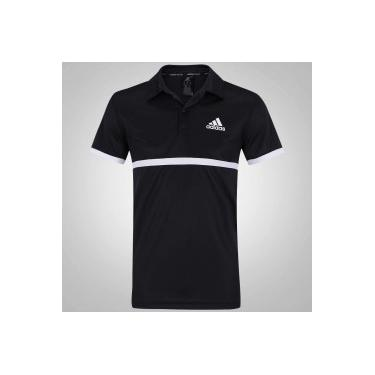 Camisa Polo adidas Court - Masculina - PRETO BRANCO adidas 48f35e995da65