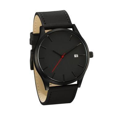 763cf7c8085 Relógio Masculino Pulso Quartzo Esportivo Couro Preto