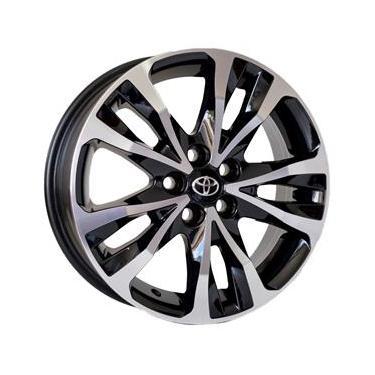 Jogo de Rodas Toyota Corolla XRS XEI Aro 16 x 6,0 5x100 ET39 R89 Preto Diamantado