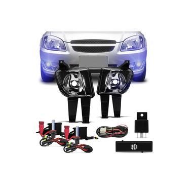 Kit Farol de Milha Celta 2011 a 2015 Prisma 2011 a 2012 + Kit Xênon HB4 8000K