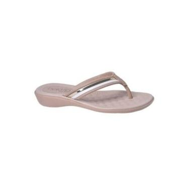 Chinelo de Dedo feminino Beira Rio sandália Conforto salto anabela ortopédico esporão oferta