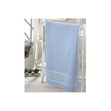 Imagem de Toalha lavabo Dohler velour bordar bella liso Azul 30x45cm