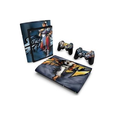 Skin Adesivo para PS3 Super Slim - Street Fighter 4