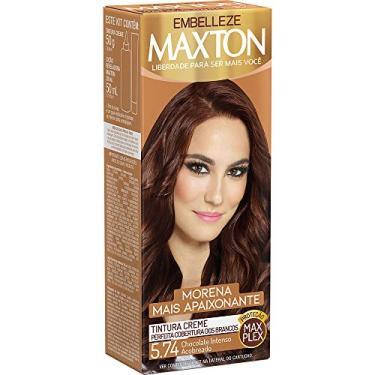 Imagem de Tinta de Cabelo Morena e Apaixonante 5.74 Kit, Maxton, Chocolate Intenso Acobreado