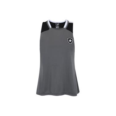 Camiseta Regata do Botafogo Porto - Feminina - CINZA PRETO Braziline 2d65cf011dcc5