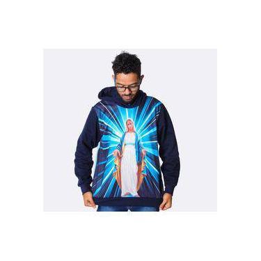 Blusa De Frio Masculina Nossa Senhora Das Graças Estampado Flanelado Touca