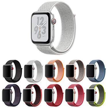 Pulseira Nylon Loop para Apple Watch 40mm e 38mm Series 1 2 3 4 5 - Marca Ltimports (Branco)