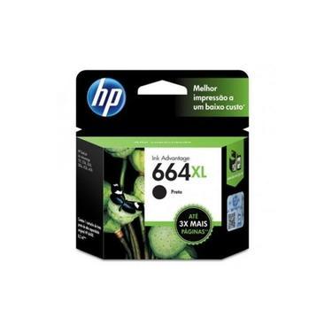 Cartucho HP Original (664XL) F6V31AB - preto rendimento 480 páginas