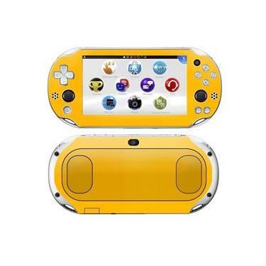 Kit Skin Adesivo Protetor PS VITA Playstation 2000 Slim (Amarelo)