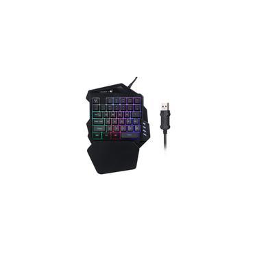 Freewolf K13 Gaming Keyboard Uma Mão Wired Keyboard Um jogo única mão do teclado para pugb Móvel jogo da mão mecânica Sentindo Design Ergonômico