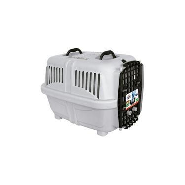 Caixa de Transporte Plast Pet Cargo Kennel Cinza para Cães e Gatos - Tamanho 4