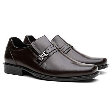 Sapato Social Vittal Masculino R250 (44, Café)