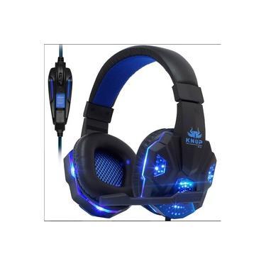 Fone Gamer KNUP KP-397 + Adaptador para ps4 Headfone Headset Gamer Pc para Celular Notebook tablet e etc ...