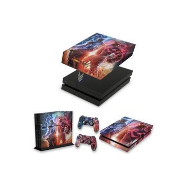 Capa Anti Poeira e Skin para PS4 Fat - Tekken 7