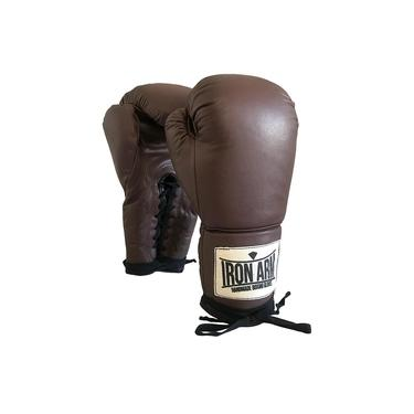 Luva De Boxe Ironarm Pro Wood Couro Legítimo 16 Oz Cadarço
