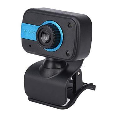 Webcam HD 1080p com microfone, Câmera USB para PC Desktop Laptop, Câmera Web para Estudo de Conferência, Gravação, Jogos (A, 52.5mm * 19mm)
