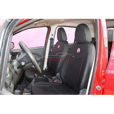Imagem de Capas Em Couro Para Bancos Automotivos Carro P/Fiat Novo Uno 2012 2013 2014 2015 2016 2017 2018 2019