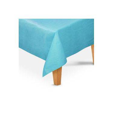 Imagem de Toalha De Mesa Quadrada Tnt Azul Claro 5 Unidades