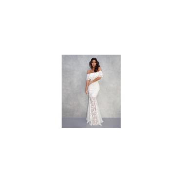 L Vestido Longo Manguinha casamento Madrinha Sereia Noiva Formaturas