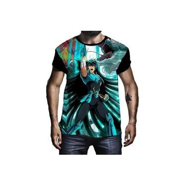 Camiseta Camisa Shiryu De Dragão Cavaleiro Do Zodíaco Bronze