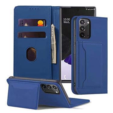 Capa para Galaxy Note 20 Ultra, capa de couro Mangix [compartimentos para cartão], [bloqueio de RFID] com suporte de luxo Flip Folio Case para Samsung Galaxy Note 20 Ultra 2020 lançado (azul, Note 20 Ultra)
