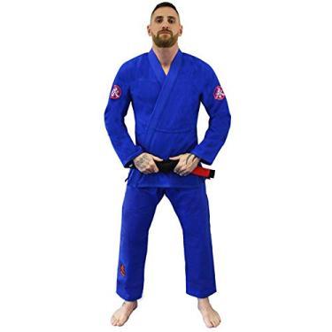 Kimono Jiu Jitsu Keiko Ultra Light - Azul-A2