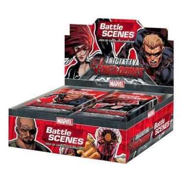 Imagem de Box 36 Booster Cards Battle Scenes Iniciativa Vingadores Copag SUIKA
