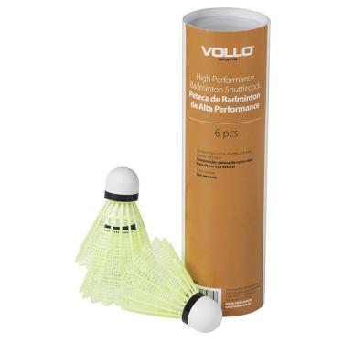 Peteca Badminton de Nylon e Cortiça 6 Unidades Vb600 Vollo