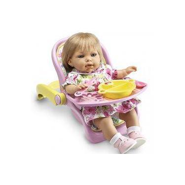 Imagem de Cadeira Refeição Bebê Conforto Boneca Babyalive Laço De Fita