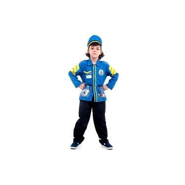 Imagem de Fantasia de Policial Infantil Com Quepe e Acessórios