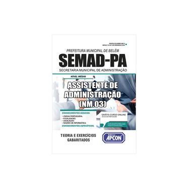 Imagem de Apostila Prefeitura de Belém (PA) SEMAD 2020 - Assistente de Administração (NM.03)