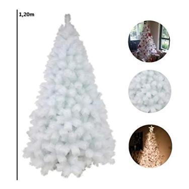 Árvore De Natal Pinheiro Branco De Luxo 1.20m 170 Galhos