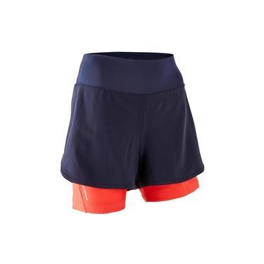 Shorts BTT Mulher ST 100 azul-marinho PP