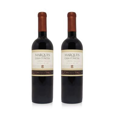Kit Com 2 Vinhos Tinto Merlot Marques De Casa Concha 750 Ml - Concha Y Toro