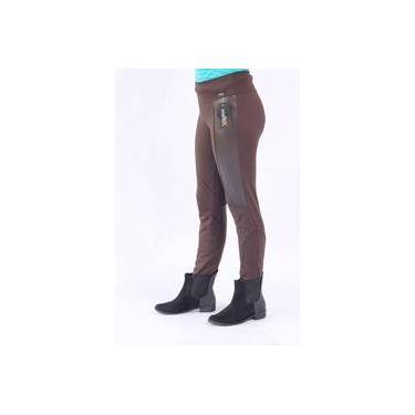 2e5c0e946 Calça Legging Montaria Infanto Juvenil Viaflex - Marrom com Couro