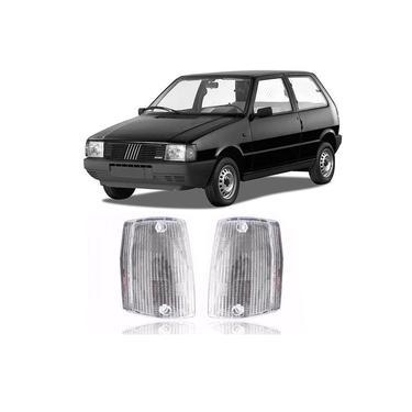 Lanterna Dianteira Pisca Fiat Uno Premio Elba Fiorino 1984 a 1990 Cristal Lado Esquerdo