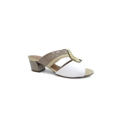 Tamanco Feminino Conforto 542086 - Piccadilly (65) - Areia/marfim/branco