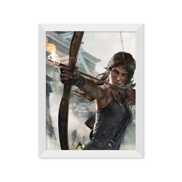 Poster de Tomb Raider - Definitive Edition Com Moldura - Branco