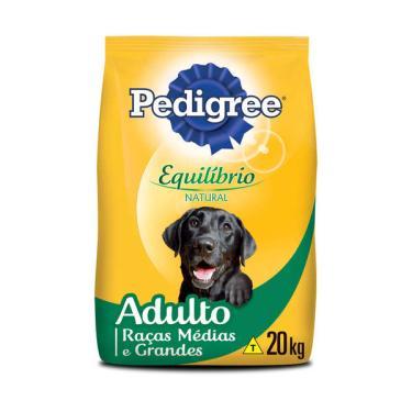 Ração Pedigree Equilíbrio Natural para Cães Adultos de Raças Médias e Grandes - 20 Kg