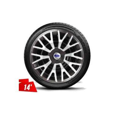 Calota Aro 14 Fiesta Ford Ka Focus Escort Graphite Silver