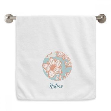Imagem de DIYthinker Toalha de mão laranja azul toalha de mão toalha de rosto algodão macio toalha de banho