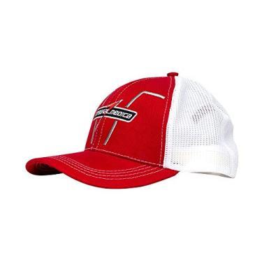 Boné com Redinha Vermelho e Branco Integralmédica Trucker Vermelho/Branco Único
