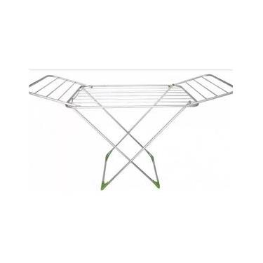Varal Aluminio de Chão Com Abas Portatil 1,60 Metros