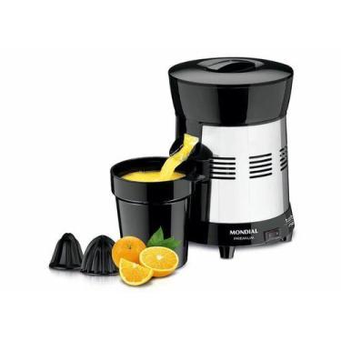 Imagem de Espremedor De Laranja E Frutas Profissional Mondial Turbo Inox 1 Litro