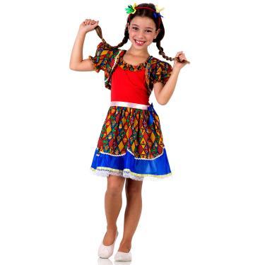 Imagem de Fantasia Caipira com Bolero Infantil - Festa Junina G