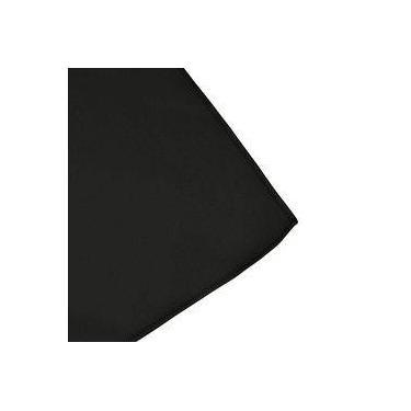Imagem de Toalha De Mesa Cobre Mancha Quadrado Em Tecido Preto 0,75m