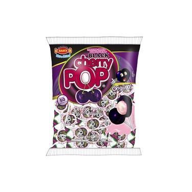 Pirulito Cherry Pop Black Recheio Chiclete c/50 - Sams