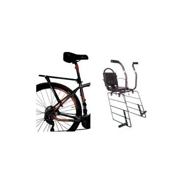 Bagageiro Bike Ajustável + Cadeirinha Criança Ate 6 Altmayer